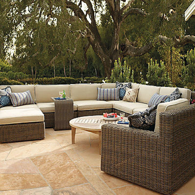 Hyde Park Modular Seating Set Contemporary Outdoor Lounge Sets By Frontgate