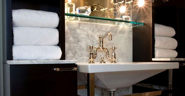 LG Construction + Development Bathroom contemporary-powder-room