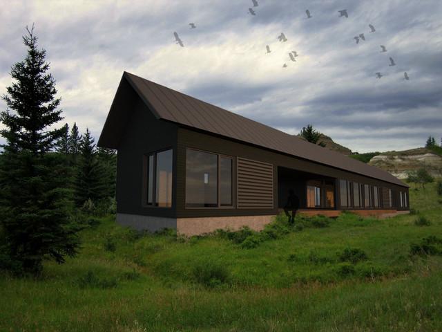Longhouse Dogtrot + Studio - Modern - Rendering - portland ...