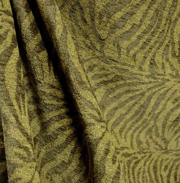M9235 Jungle Olive Green Zebra Animal Skin Upholstery Fabric By The ...