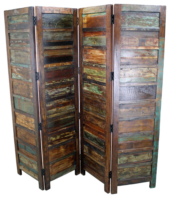 Mexicali rustic wood room divider screens and