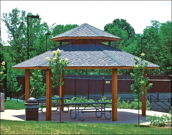 Wood Double Roof Orchard (Hexagon) Pavilions contemporary-gazebos