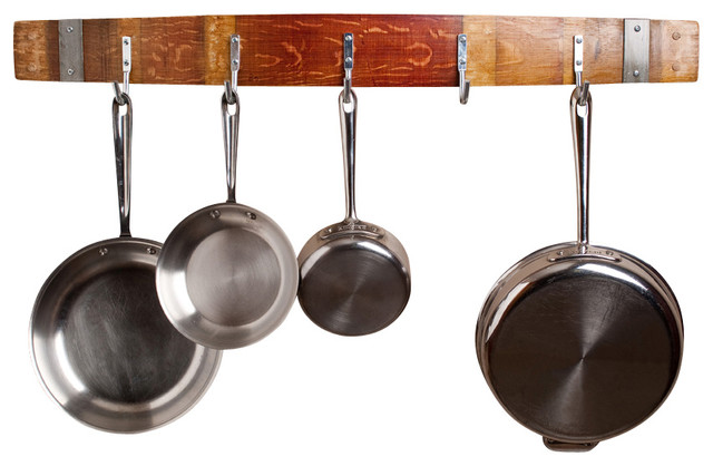 Wine Barrel Pot Rack With Bands - Contemporary - Pot Racks And Accessories - by Alpine Wine Design