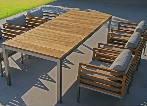 Recycled Teak Outdoor Dining Table And Chairs Outdoor Tables