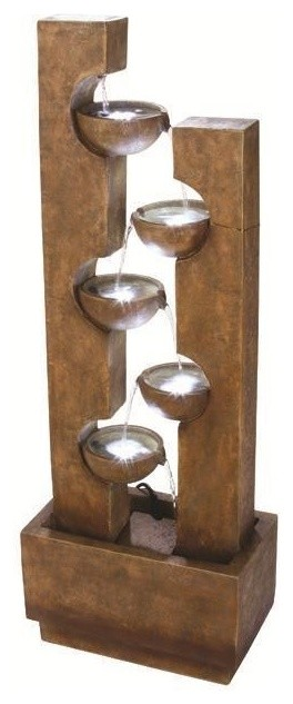 Goletta Outdoor Water Fountain contemporary outdoor fountains
