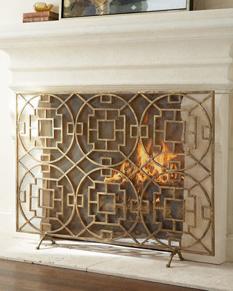 Pyra Fireplace Screen Traditional Screens And Wall Dividers By Horchow
