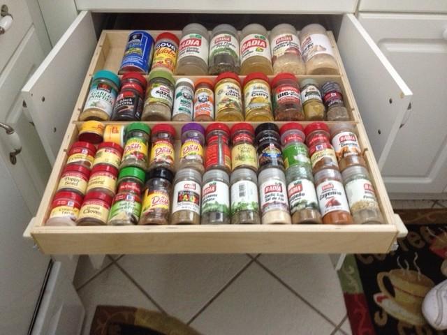 Pull Out Spice Drawer - miami - by ShelfGenie of Miami
