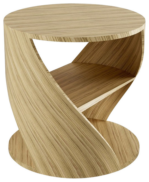 Table Wood Finish, Zebrano - Contemporary - Side Tables And End Tables ...