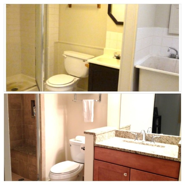 basement bathroom laundry room before and after