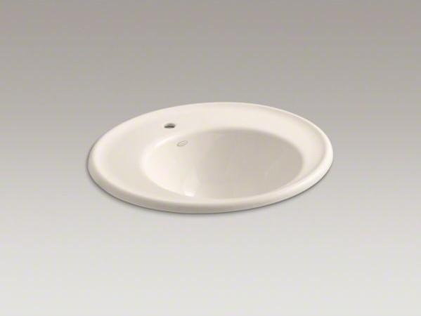 KOHLER Iron Works(R) wall-mount bathroom sink with single faucet hole and Sandba contemporary-bathroom-sinks
