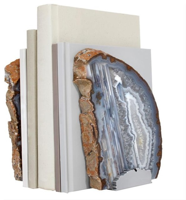 FIM Agate Bookends by RabLabs modern-bookends