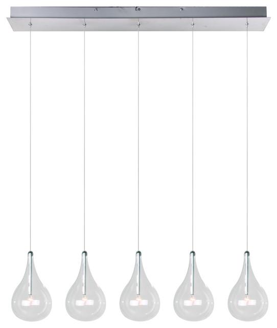 ET2 Lighting E23115-18 Larmes Polished Chrome Island Light contemporary-pendant-lighting