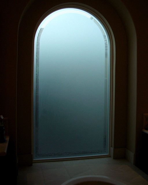 FROSTED PINSTRIPES - Bathroom Windows - Frosted Glass Designs Privacy ...