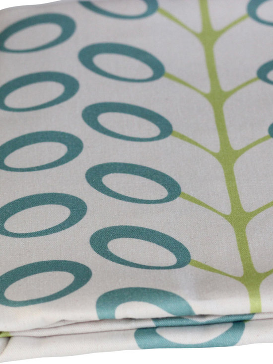 PURE Inspired Design - Bud Organic Drapery - Surf/Lime, Swatch - Bud organic cotton canvas swatch in Surf, Lime, and Natural.  All our pattern organic fabric is grown, woven, and printed in the USA.
