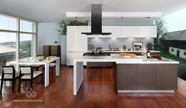 Modern custom kitchen islands afreakatheart for Modern custom kitchen cabinets