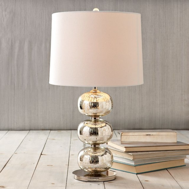 Abacus table lamp mercury contemporary table lamps for Bedroom nightstand lamps