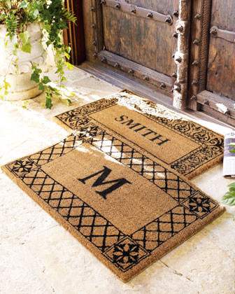 Floral Doormat traditional doormats