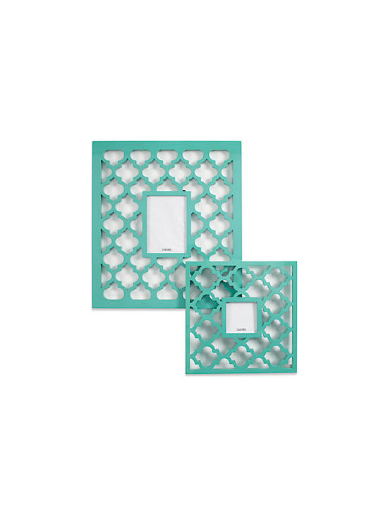 Mimosa Frames, Aquamarine - These gorgeous frames have a pretty pattern and color that can add a summery touch to any room.