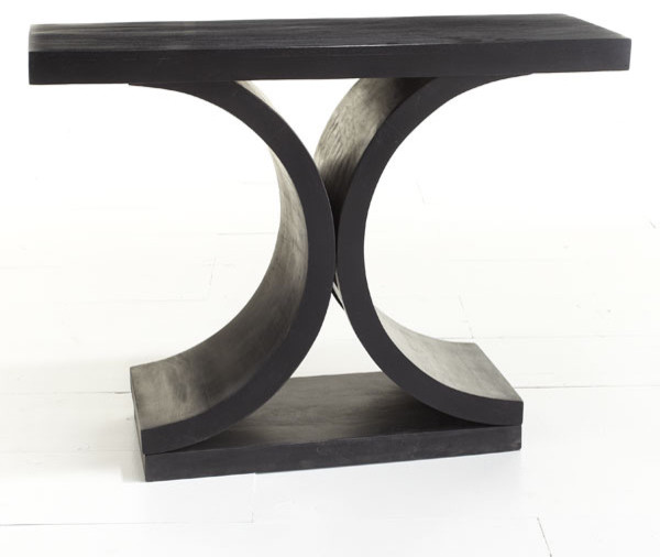 Mid Century Modern Console Table Black Modern Side