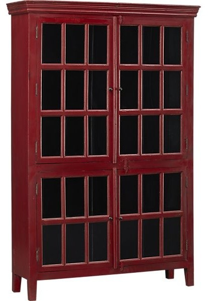 Rojo Red Tall Cabinet contemporary-storage-units-and-cabinets