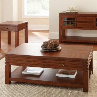 Steve Silver Lambert Rectangle Cherry Wood Coffee Table modern-side-tables-and-end-tables
