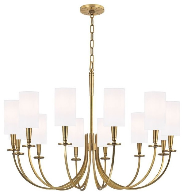 Hudson Valley Lighting 306 Agb Chandelier In Aged Brass