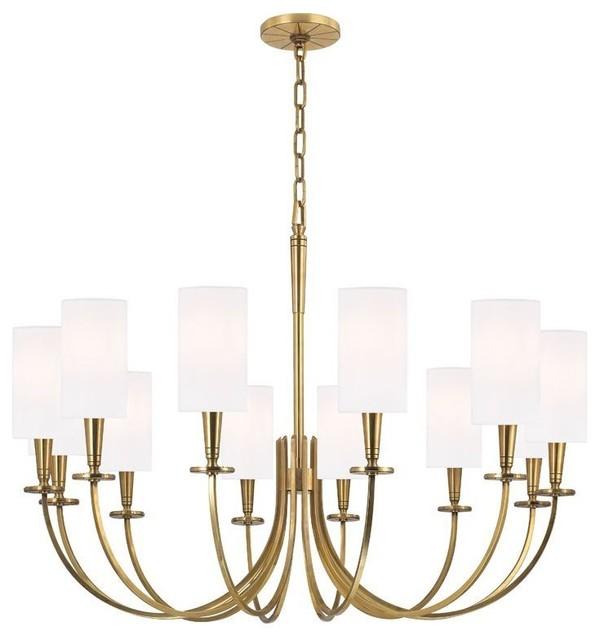 Hudson Valley Lighting 306 Agb Chandelier In Aged Brass