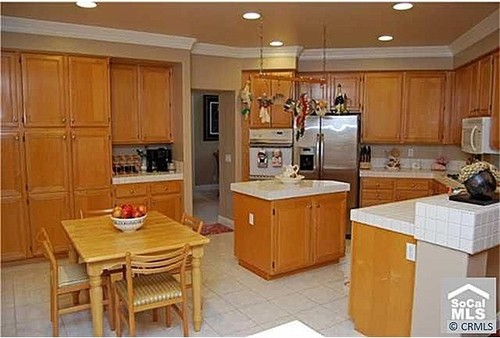 Plan on keeping cabinets we want granite countertops and for I want a new kitchen