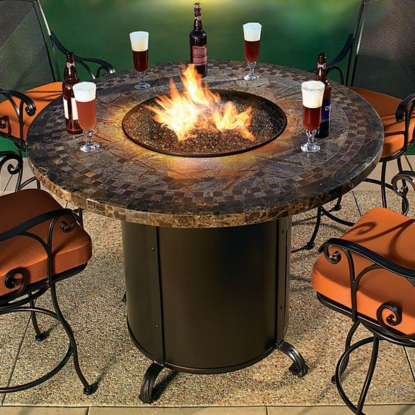 Contessa Round Outdoor Fire Pit Table Chicago By Home