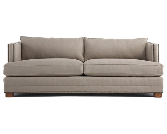Keaton Sofa - Our Keaton sofa shows the power of saying something simply. The tailored look is enhanced with back pillows that are box edged, welted and the same height as hard back.