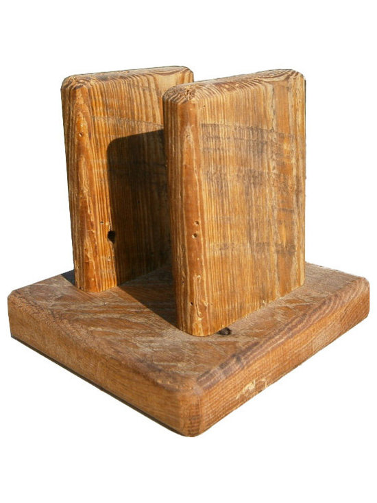 The Rusted Nail LLC - Reclaimed-Wood Napkin Holder - Add a rustic touch to your kitchen, picnic table or breakfast nook. This handsome napkin holder is made from reclaimed barn wood and sealed with danish oil to last. Make it a functional family heirloom for future generations to enjoy.