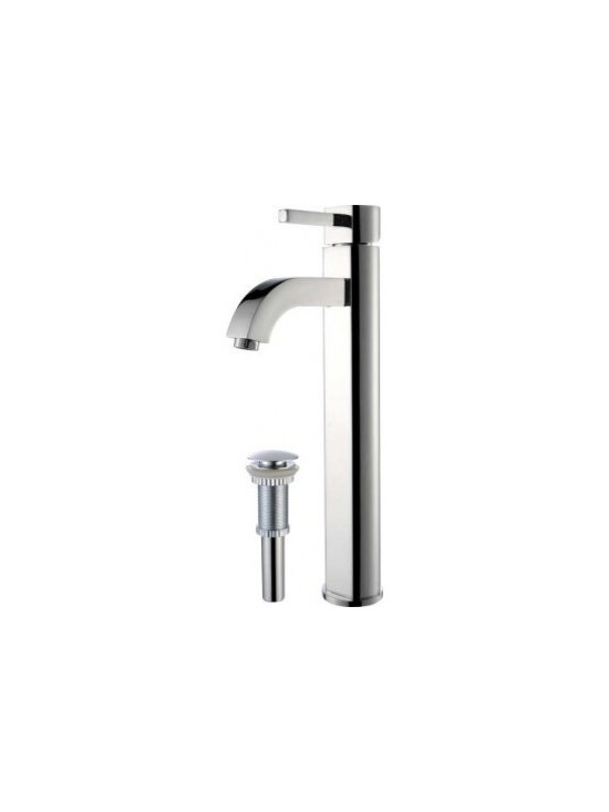 Kraus Ramus Single Lever Vessel Faucet With Matching Pop Up Drain FVS-1007-PU-10 - Add a touch of elegance to your bathroom with a vessel sink faucet from Kraus