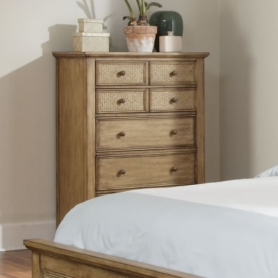 Progressive Furniture Kingston Isle II 8 Drawer Chest - Sand modern-dressers-chests-and-bedroom-armoires