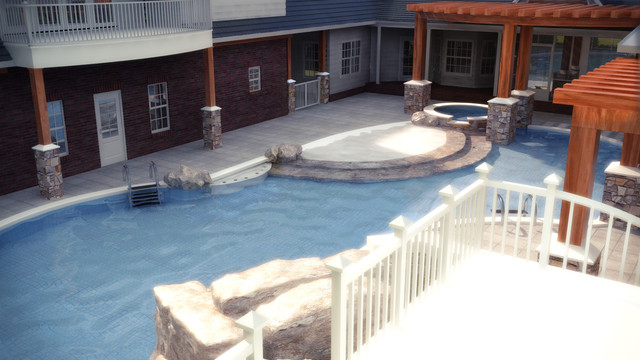 Pool and Garage addition contemporary-pool