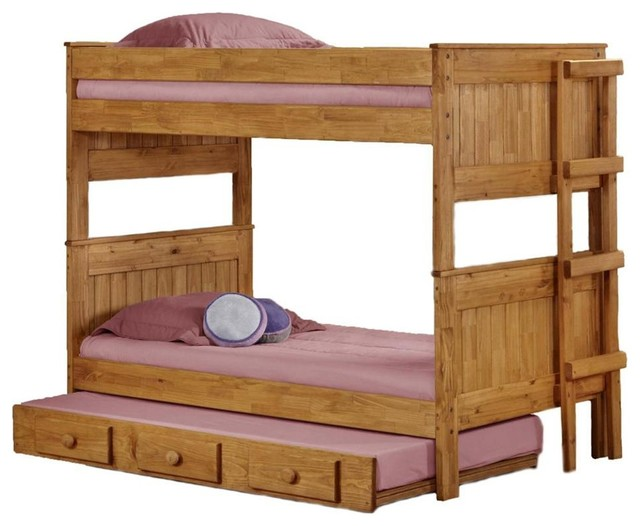 Twin Over Twin Stackable Bunk Bed contemporary-kids-beds