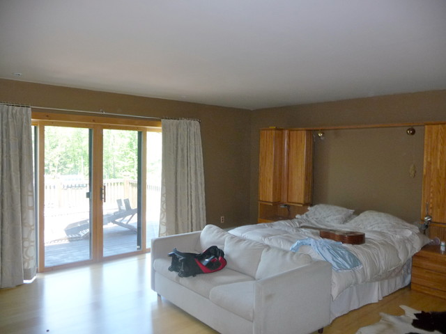 Renovated cavernis bedroom Before contemporary-bedroom