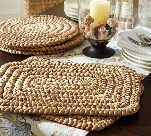 Water Hyacinth Placemats Contemporary Placemats By