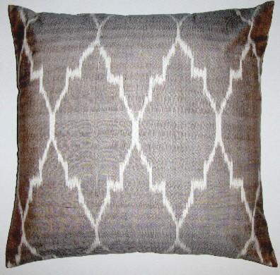 Uzbek ikat pillow covers eclectic-decorative-pillows