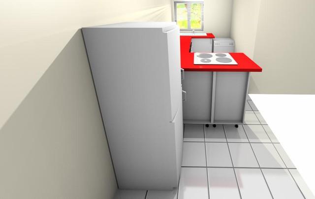 Conceito de cozinha de design em espaços limitados