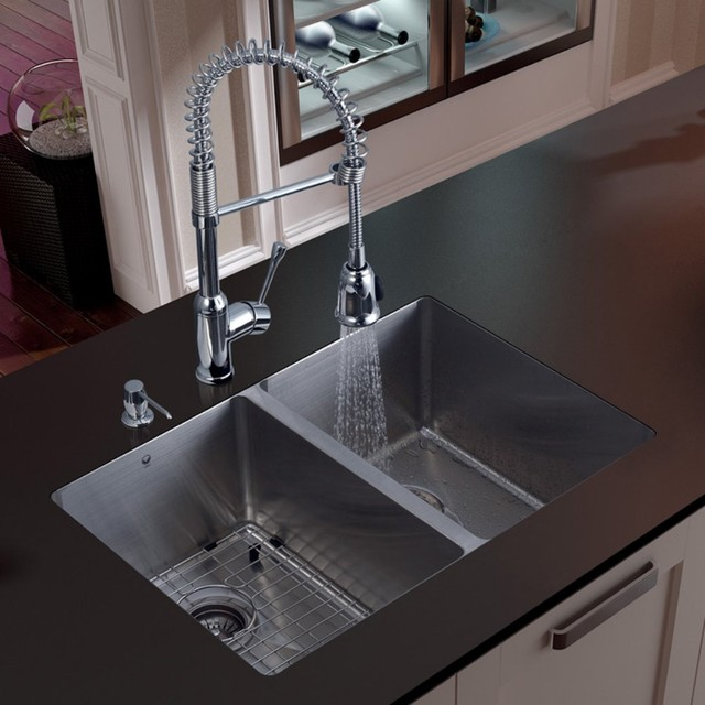 ... Equal Undermount Stainless Steel Kitchen Sink Set modern-kitchen-sinks