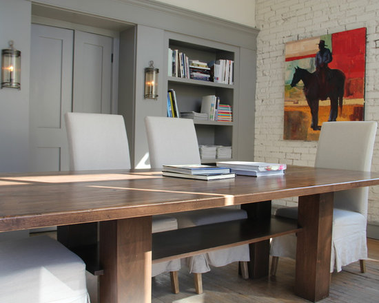 Custom Oak Dining Table - Custom dining table design and created by Chalet.  Not for sale