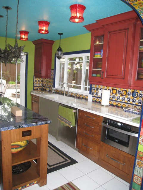A Colorful Kitchen traditional-kitchen