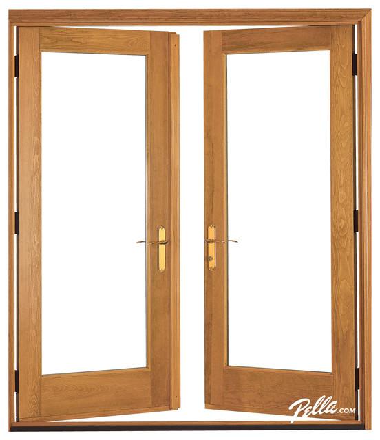 Pella® Architect Series® hinged patio door - Contemporary - Patio Doors - other metro - by Pella ...