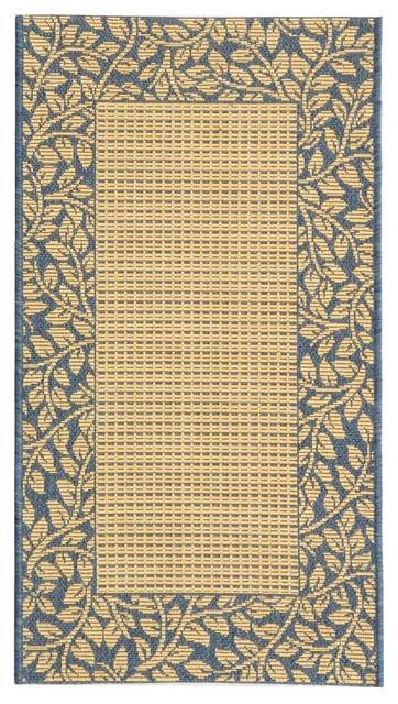 Safavieh Courtyard CY0727-3101 Blue Area Rug traditional-carpet-tiles