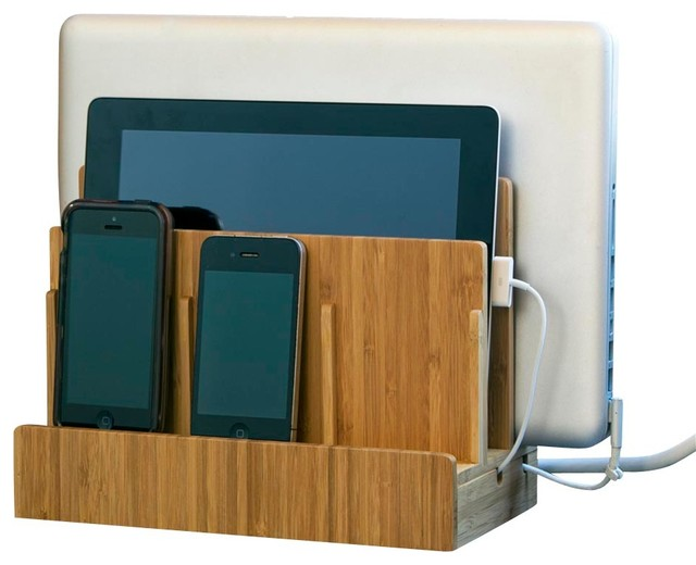 Bamboo Multi Charging Station Modern Charging Stations