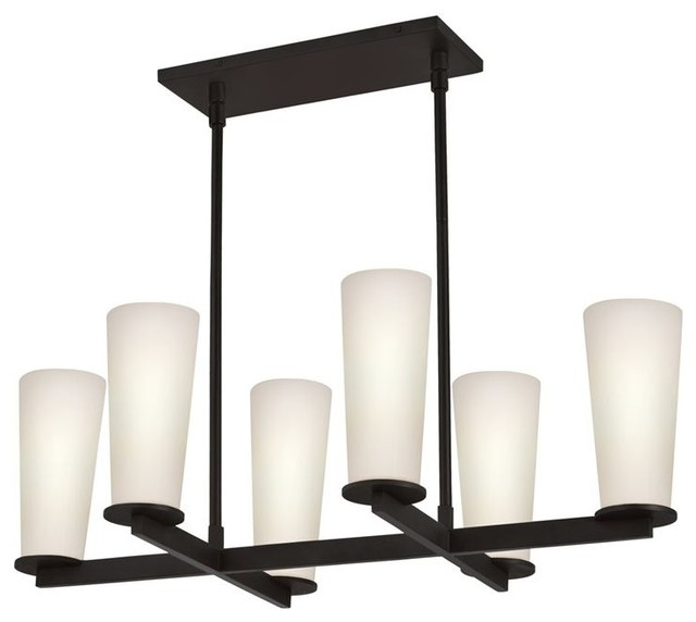 Sonneman Lighting 4926.32 High Line 6-Light Island Light  In Black Bronze modern-kitchen-lighting-and-cabinet-lighting