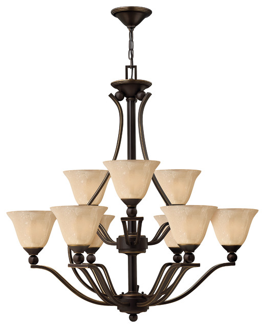 Bolla 2 Tier 9-Light Chandelier contemporary-chandeliers