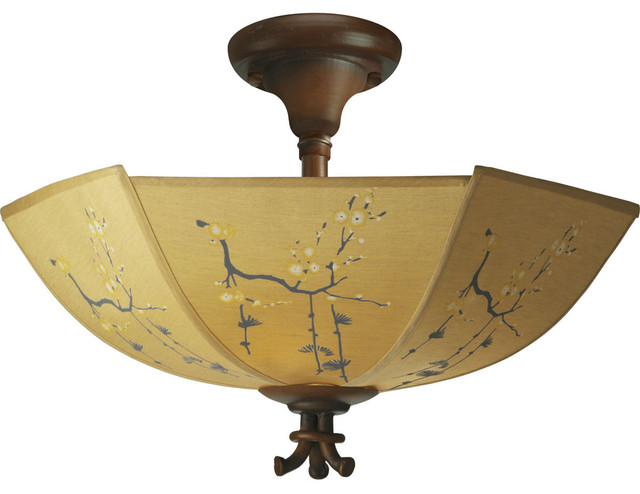 Paradise East Semi-Flush Mount asian ceiling lighting