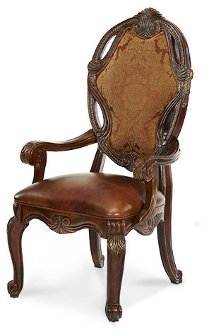 """""""Michael Amini"""" Essex Manor Armchairs (Set of Two) traditional-dining-chairs"""