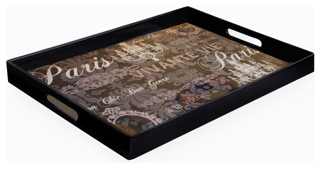 Notions Paris Rectangular Tray with Handles contemporary-platters